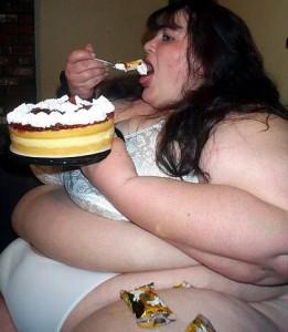 Fat woman sweat