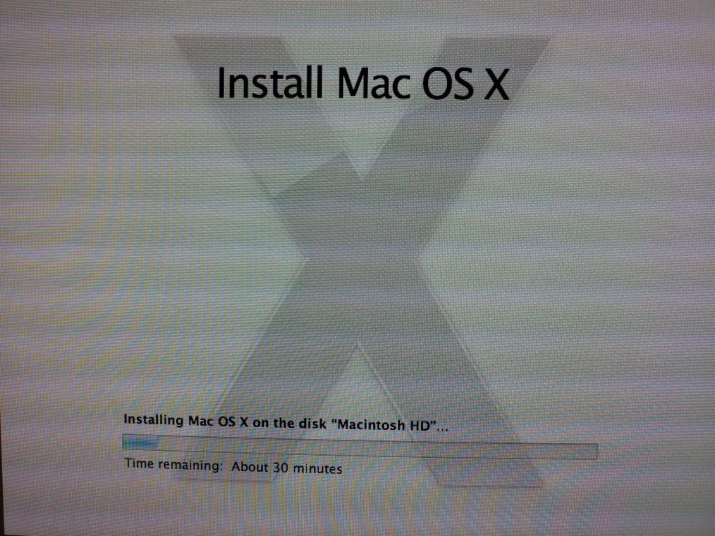 OS X Lion 10.7 Installing