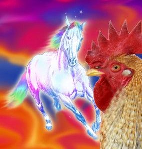 Rainbow Horse Chicken?